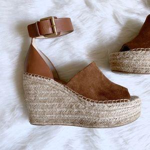 Marc Fisher platform Espadrille Ankle Strap Sandal